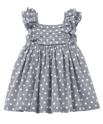 Mothercare Blue Spot Chambray Dress/ I'm gonna try and make one of these for my Baby Sister!!
