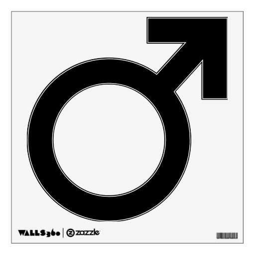 Male Gender Symbol Wall Decal