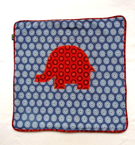 BLUE Elephant cushion cover  100 cotton shweswhe by MathildeAndCo, £17.00
