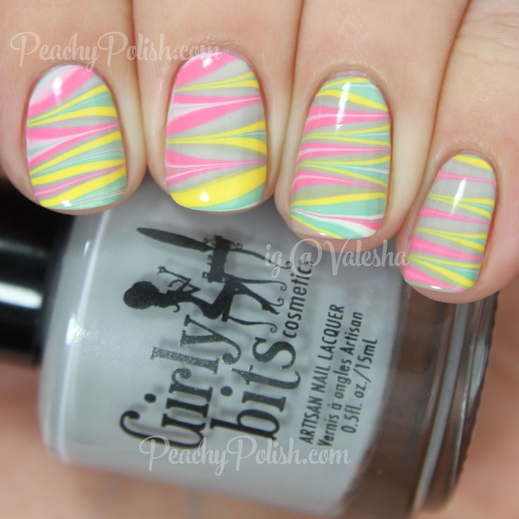 Marble Nail Polish Instructions: 17 Best Images About Water Marble Nail Art Gallery On