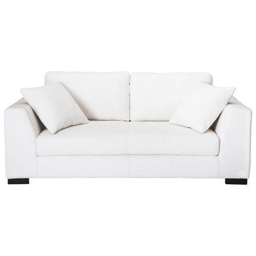 Sofá de 2/3 plazas de cuero blanco