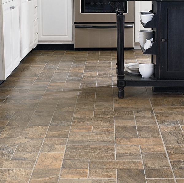 Mannington laminate tile flooring revolutions collection for Kitchen flooring installation