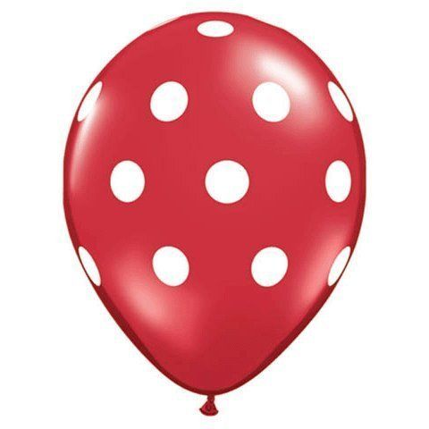 Red with White Polka Dots by Qualatex - made in USA, http://www.amazon.com/dp/B005CHUYFC/ref=cm_sw_r_pi_dp_9xWkqb04F3HDD