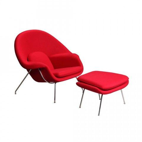 Fotel Cozy Lounge z podnóżkiem insp. Womb
