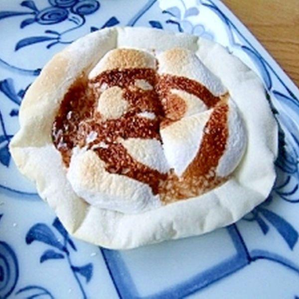餃子の皮で♪チョコマシュマロのデザートピザ