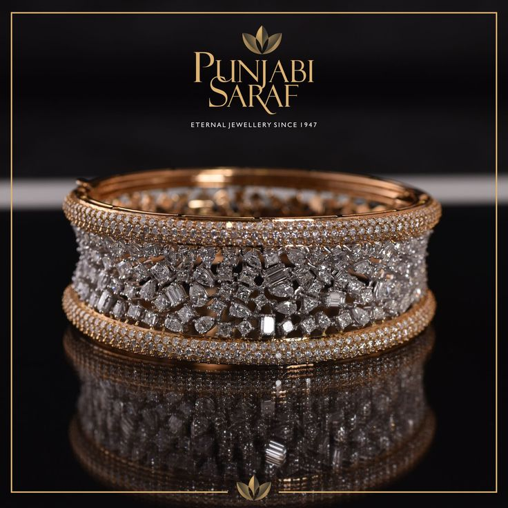 Crafted with delicacy and precision, this stunning bracelet by Punjabi Saraf will stand out every time. #PunjabiSaraf #Diamonds #Jewellery #DiamondBracelet #ClassicJewellery #Indore