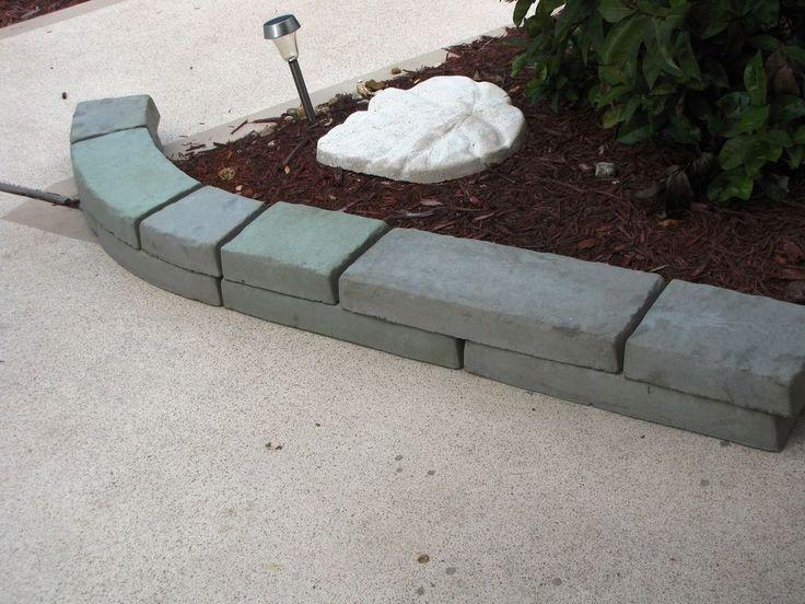 Thick Concrete Garden Edging Lawn Landscape Molds Make Low Walls - Concrete lawn edging molds