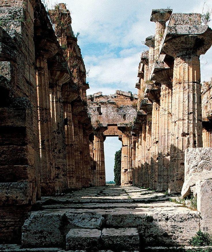 Temple of Hera at Paestum. Italy. c.550. B.C.E http://hadrian6.tumblr.com