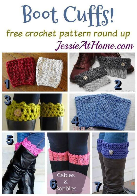 boot-cuffs-free-crochet-pattern-round-up: