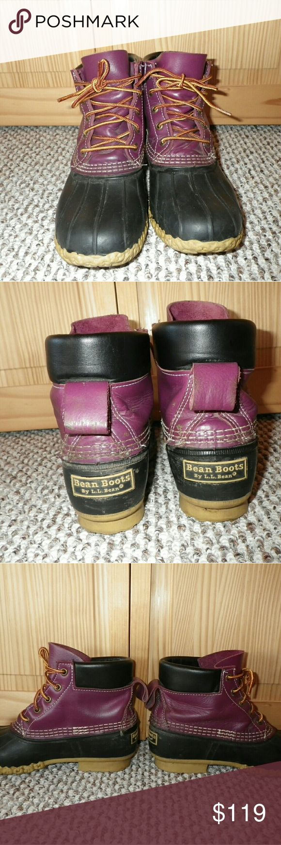 "◆◆FLASH SALE◆◆ LL Bean Boots Purple Padded Collar Excellent condition.  Only worn a few times.  Padded collar is more comfy around the ankles than regular styling.  Not 100% set on selling these but I'm listing them anyways.  We shall see!  This color is no longer made in a 6"" padded collar...limited edition. L.L. Bean Shoes Winter & Rain Boots"