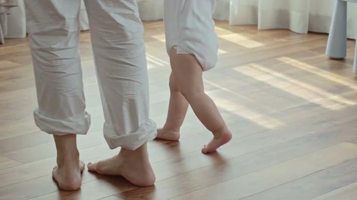 Barfuss auf Fußbodenheizung