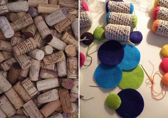 finally a wine cork project that might actually be worth doing. Cork/crochet/catnip toy