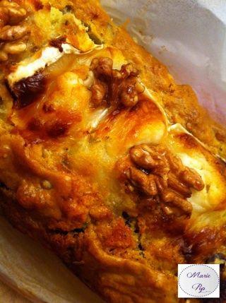 Cake Chèvre Noix et Raisins - La recette en cliquant sur la photo