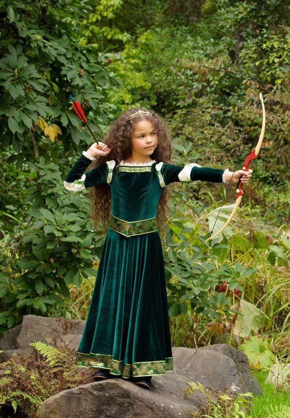 Merida Costume Brave Inspired Princess Gown от EllaDynae на Etsy