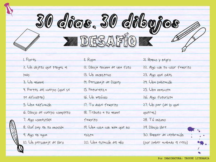1# - RETO: 30 días, 30 dibujos ~ Leer, Dibujar, Soñar