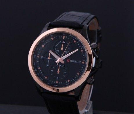 Luxusné pánske hodinky Curren v čiernej farbe. Sleduje svoj čas štýlovo s týmito luxusnými hodinkami v čiernej farbe. Hodinky Curren Vás uchvátia svojim vkusným, elegantným a nadčasovým dizajnom. Remienok je vyrobený z chirurgickej oceľ. Pokiaľ chcete spestriť svoj outfit a sledujete aktuálne módne trendy, tieto hodinky sú určené práve pre Vás. Malé ciferníky slúžia len ako dekorácia hodiniek.