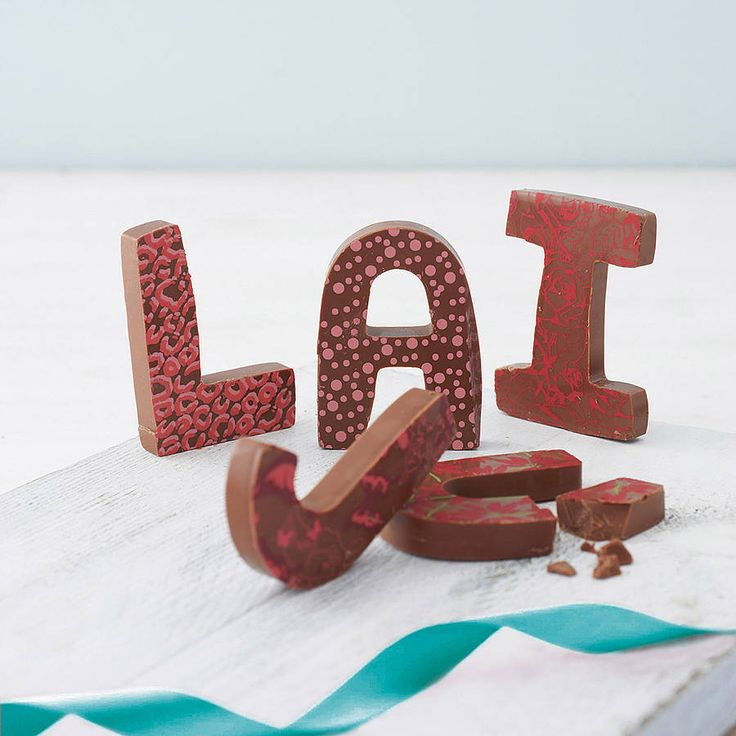 Patterned Milk Chocolate Letter from notonthehighstreet.com