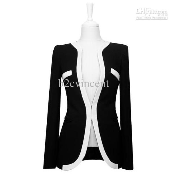 S5Q New Korean Style Women Office Lady Contrast Color Coat Jacket Blazer Outwear AAABOO Online with $28.85/Piece on B2cvincent's Store | DHgate.com