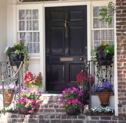 Big black door home entrances pinterest