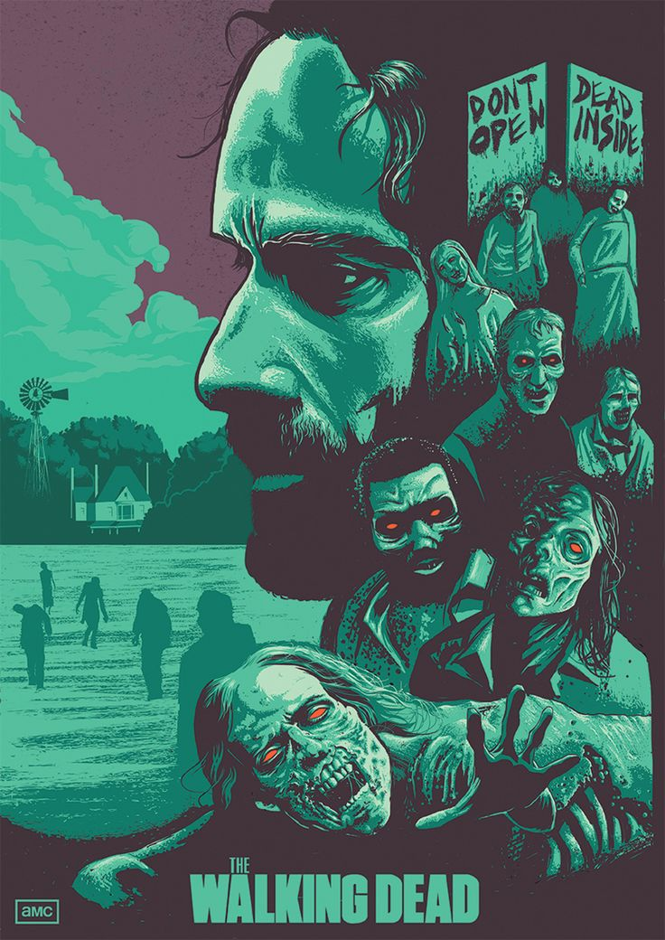 AMC's the Walking Dead illustration by Andrew at Inky Illustration Agency. Hire Andrew here: https://www.inkyillustration.com/andrew-bourne Email us to commission your artwork: info@inkyillustration.com