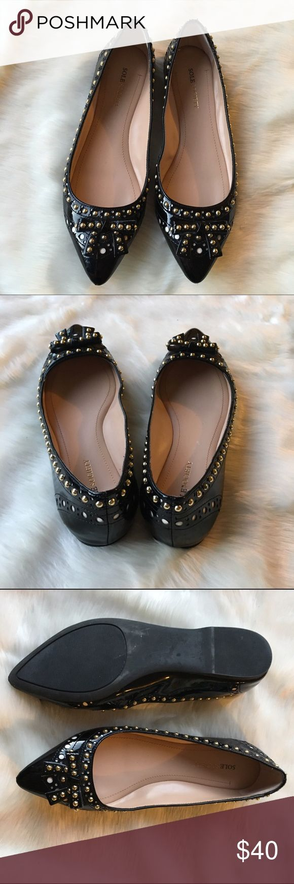 ✂️firm price✂️sole society studded flats Excellent like new pointed patent studded flats. Sz 8 Sole Society Shoes Flats & Loafers