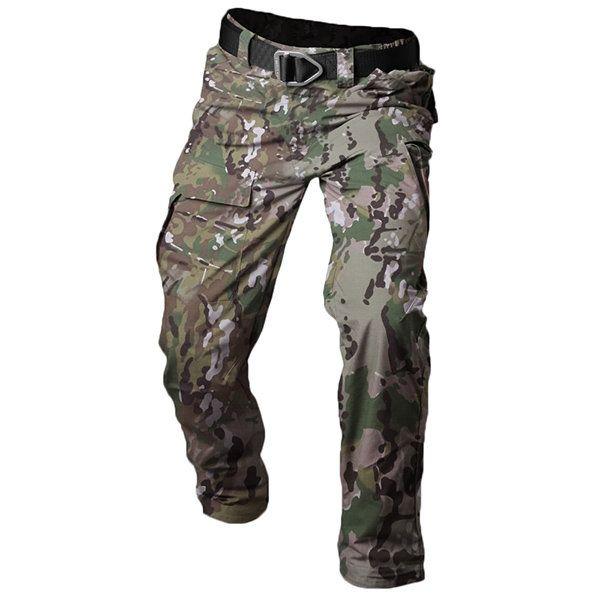 Mens Outdoor Waterproof Multi-pocket City Tactical Cargo Pants Military Pants