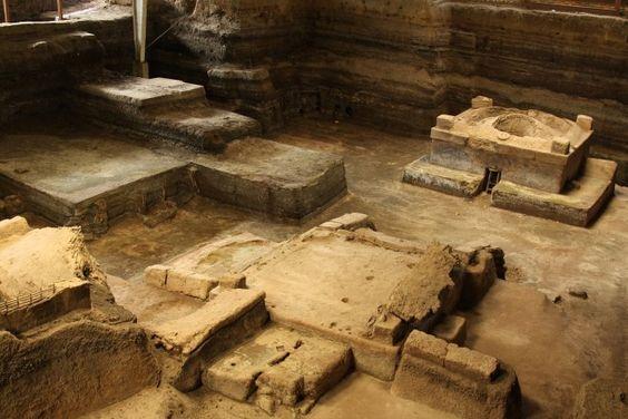 Yo ví las ruinas como Joya de Cerén. Fue una civilización agricultura cubrir en ceniza de volcán.