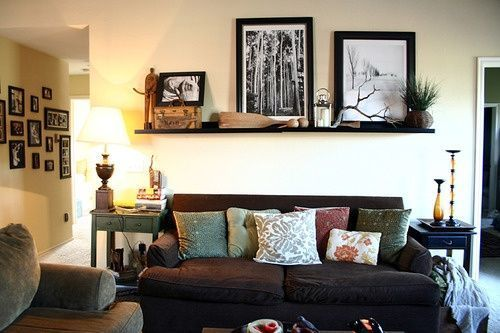 Shelf above couch :) – #abovecouch #couch #Shelf -…