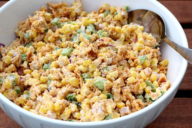 Chili Cheese Frito & Corn Salad Had this today for the first time and it is AMAZING!