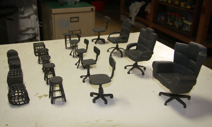 Curtin Uni - the making off. In this blog post you'll find some images of the chairs used to make the cute stop-motion ad for Curtin Uni.