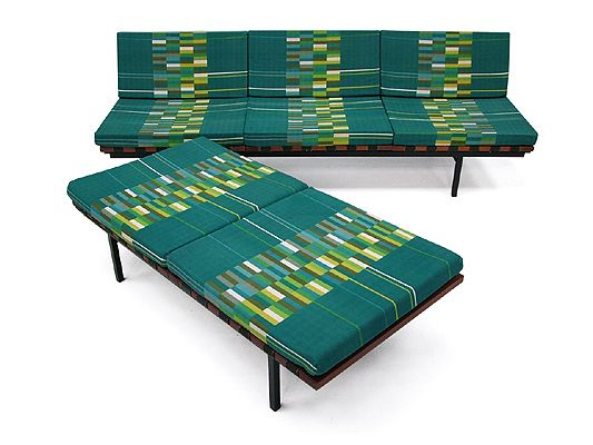 Form Group sofa & bench by Robin Day for Hille, UK, 1959.