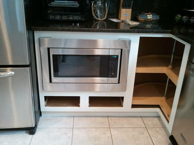 Now You See My Vision For The Microwave Cabinet Complete And How It Was All