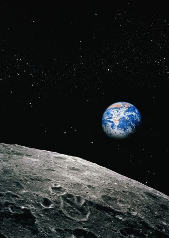 Earth from Moon, satellite view