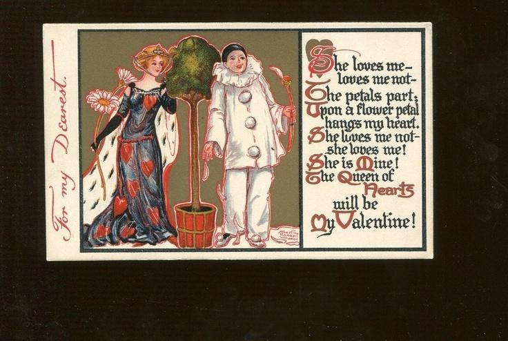 2227 Artist A R Wheelan Art Deco Nouveau Valentine Clown Suit   eBay