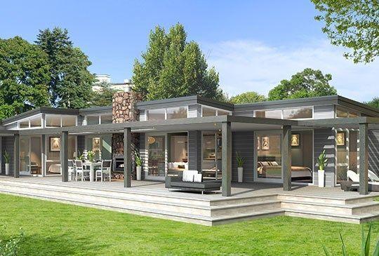 modern corrigated iron timber cladding box homes nz - Google Search