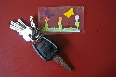 Basteln mit Kindern - diy Schlüsselanhänger