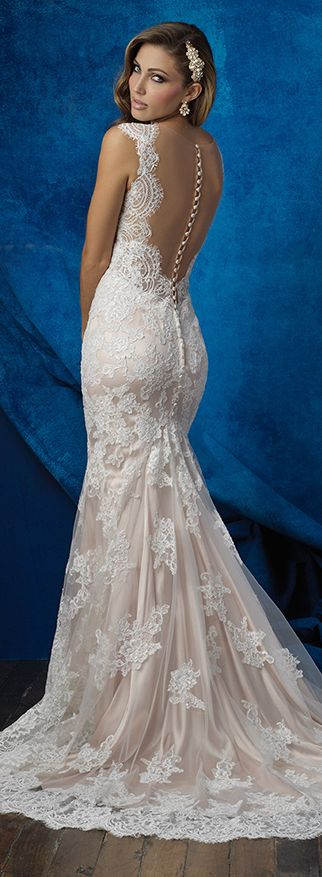 @Bellethemagazine wedding dresses | Allure Bridals Fall 2016 | Floor Ivory Sheath Scoop $$ ($1,001-2,000)