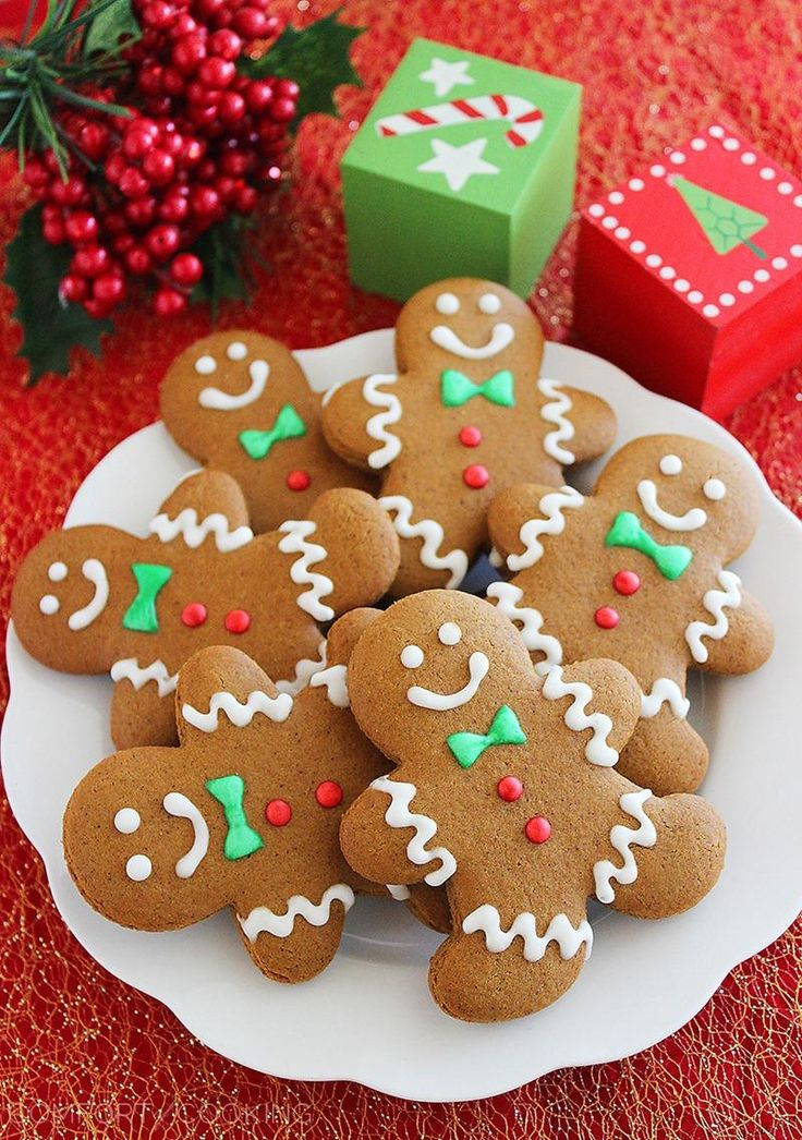 Spiced Gingerbread Man Cookies – Soft, festive gingerbread man cookies with warm winter spices – made easily from scratch!   thecomfortofcooking.com