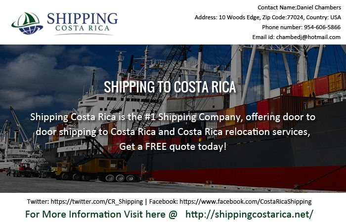 The author is here to offer help on Shipping to Costa rica plans. He took help from Shipping Costa Rica for some great help. The group from Shipping Costa Rica will make a point to utilize the best compartments for delivery purposes; customers have the freedom to pick isolate holders for particular things, or can book for stand out compartment here, for obliging everything alongside an auto.