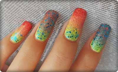 10. Fall Gradient (Manichiura in degrade + Golden Rose Jolly Jewels 107) ~ Sun after Storm
