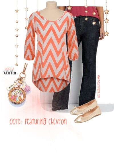 Chevron Outfit with our Easter Faith Floating Locket Charm collection. Outfit by Sarah Dee, Jewelry by Spilled Glitter