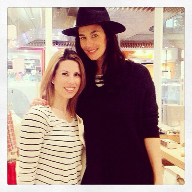 Megan Gale visiting our Highpoint store! Follow Purebaby on Instagram @purebabyorganic