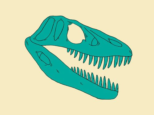 T-Rex Illustration Im working on for a project