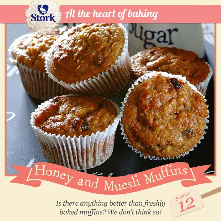 Honey and muesli muffins #recipe