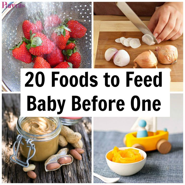 When it comes to feeding your baby solid foods, variety is the spice of life. Research shows that the more fruits and vegetables a baby eats before age one, the more likely she is to eat a variety of produce by the time she's six. And when it comes to allergens like peanuts and eggs, pediatricians also recommend offering them to your baby before 12 months.