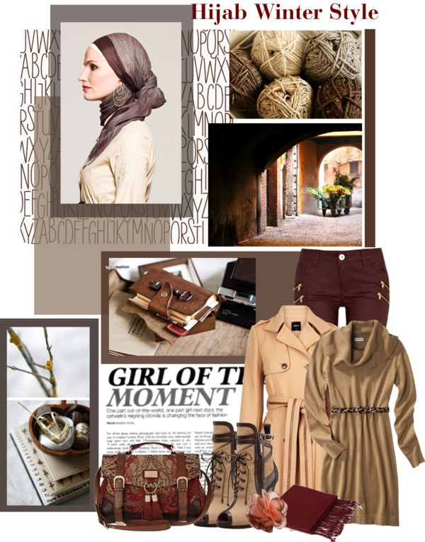 """Hijab Winter Style"" by willapritia on Polyvore"