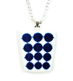 Necklace Adam - Necklace manufactured from recycled porcelain. #stiglindberg #gustavsberg #porcelain