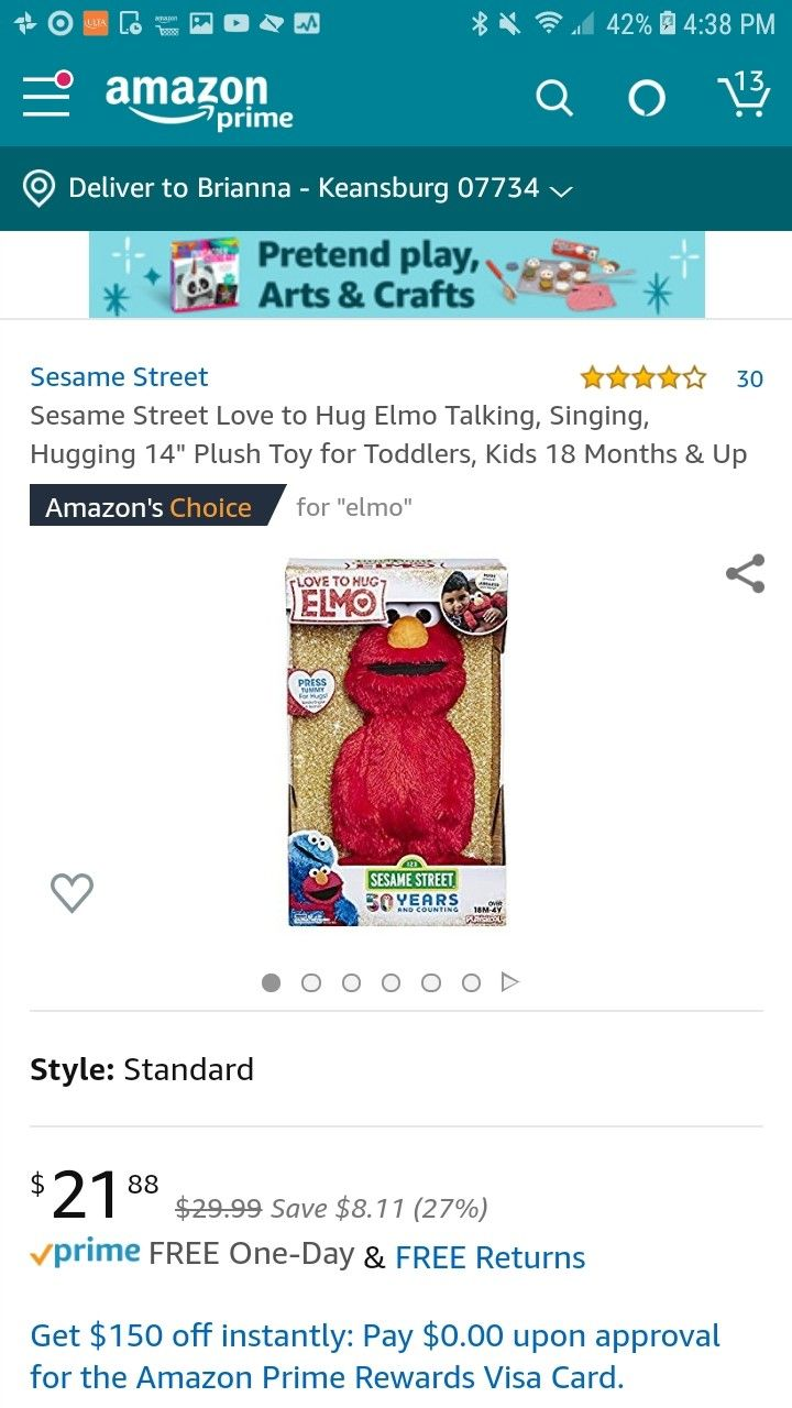 Pin By Brianna Liquori On For Baby Richie Toddler Toys Sesame Street Elmo Sesame Street