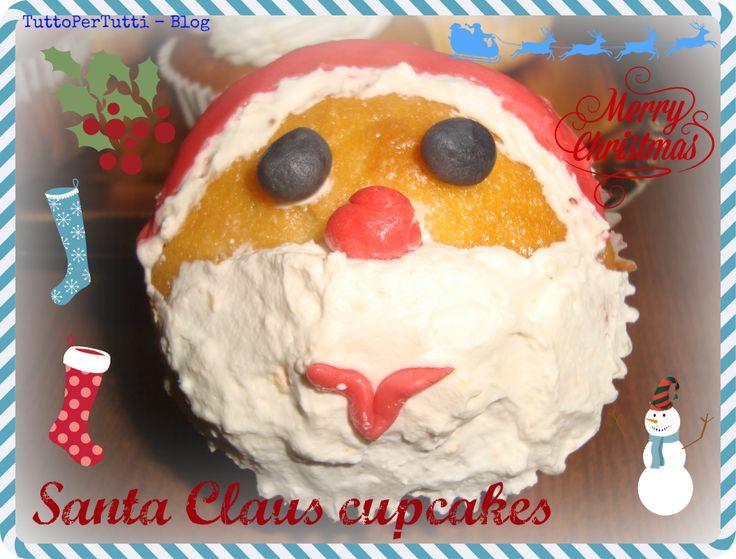 TuttoPerTutti: SANTA CLAUS CUPCAKES. Buffo e goloso Babbo Natale!!