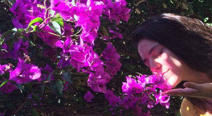 Respirando luz del universo en mi Jardín